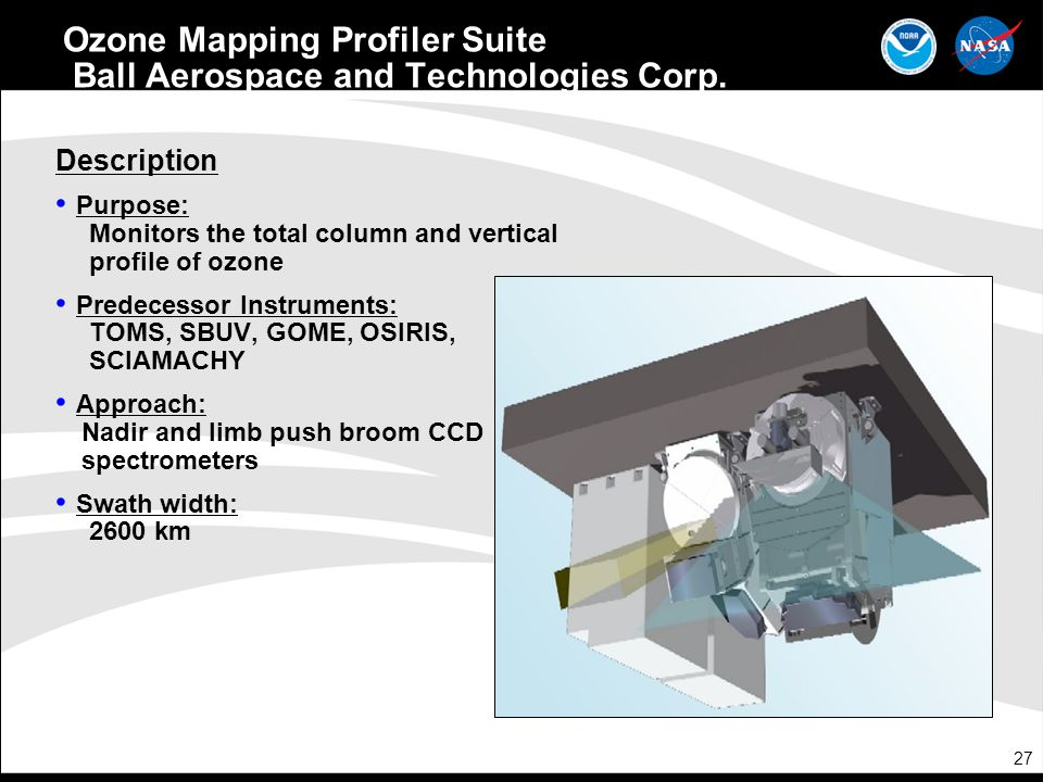 Ozone Mapping Profiler Suite Ball Aerospace and Technologies Corp.