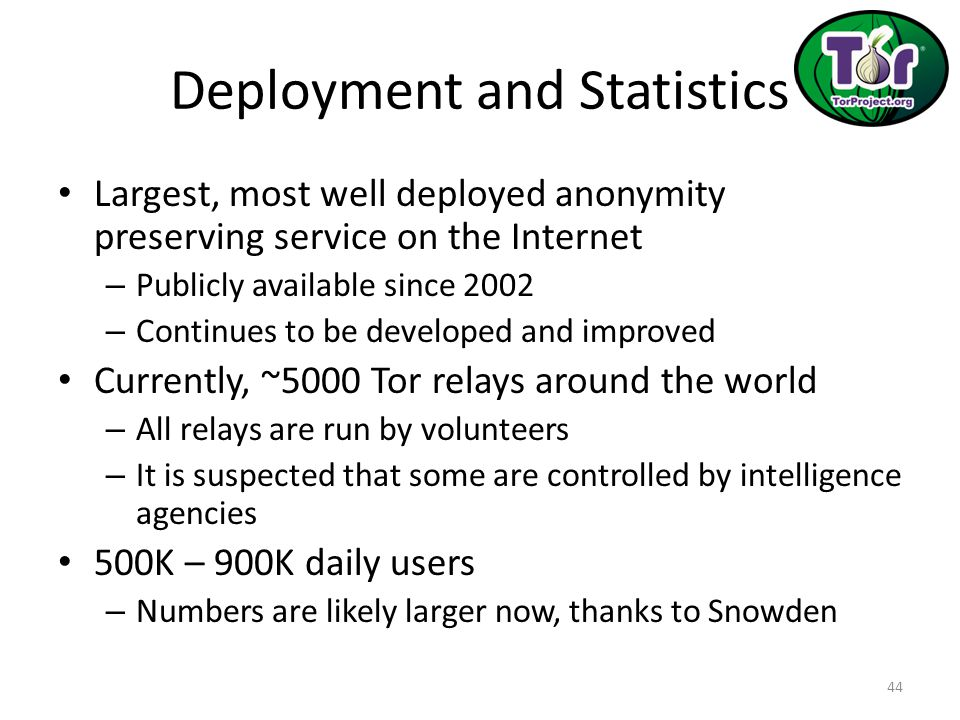 Deployment and Statistics
