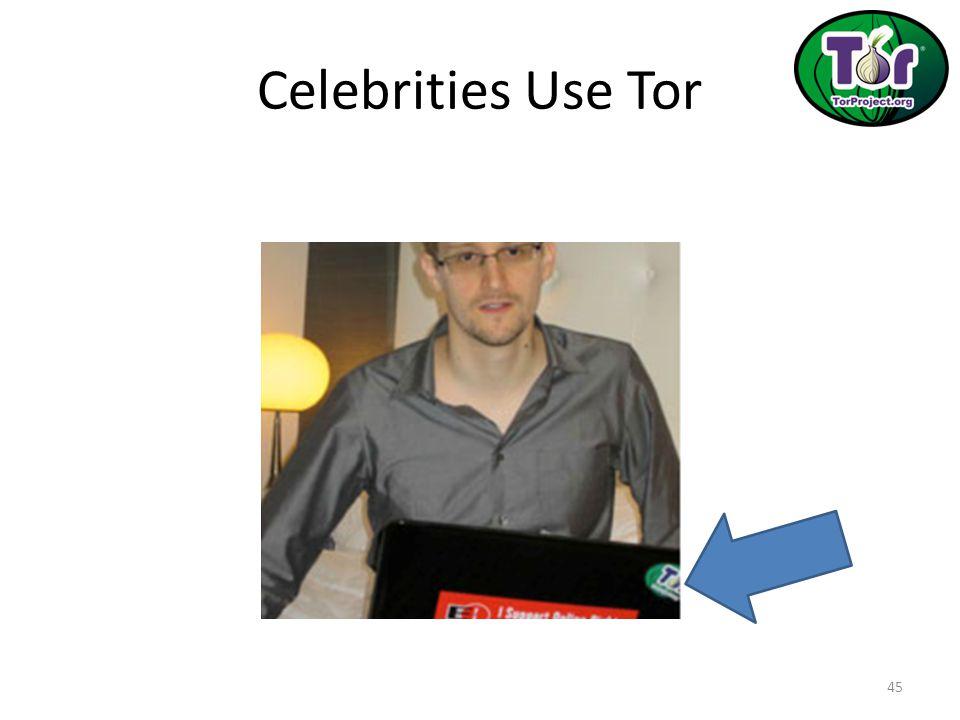 Celebrities Use Tor