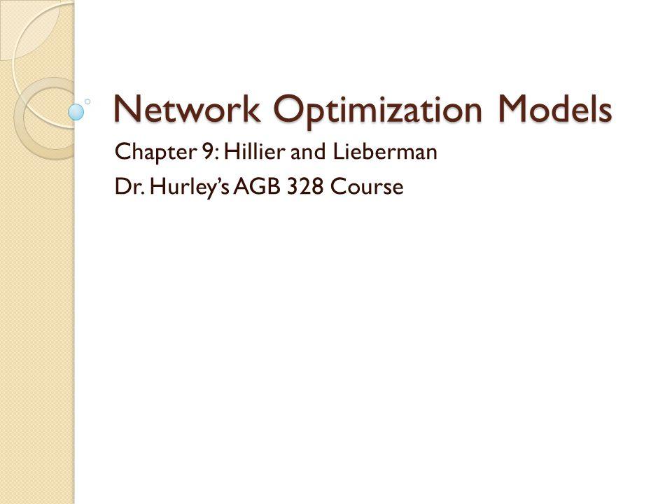 Network Optimization Models