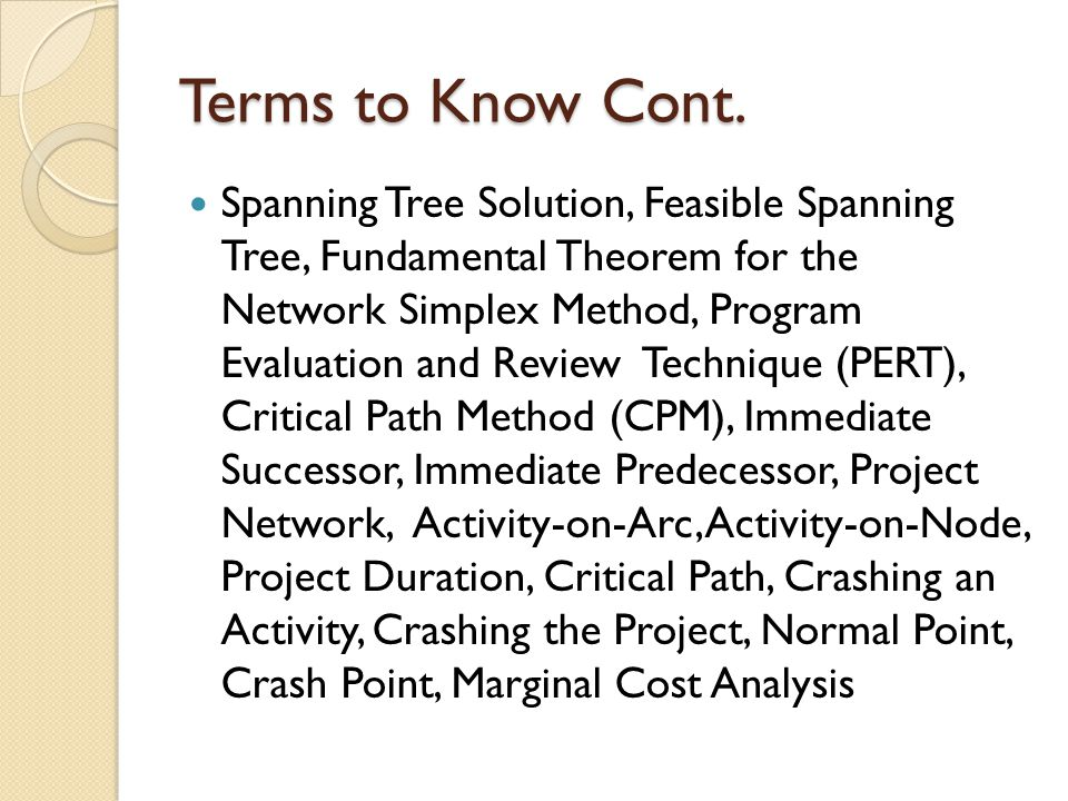 Terms to Know Cont.