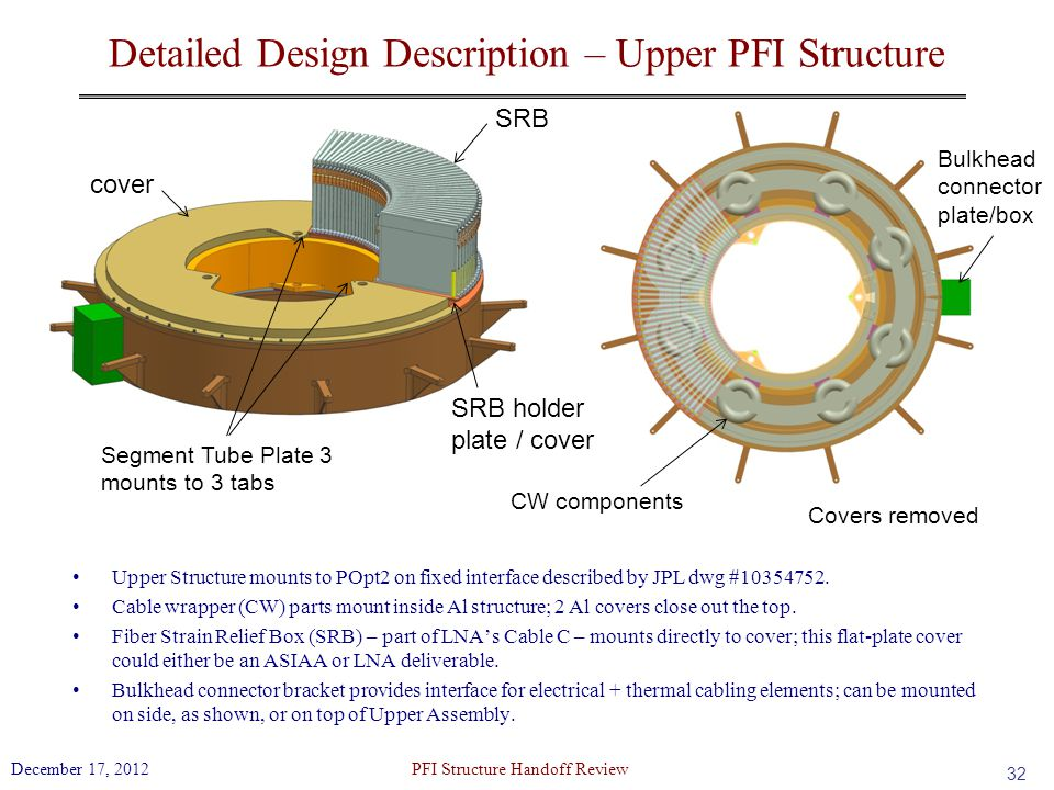 Detailed Design Description – Upper PFI Structure