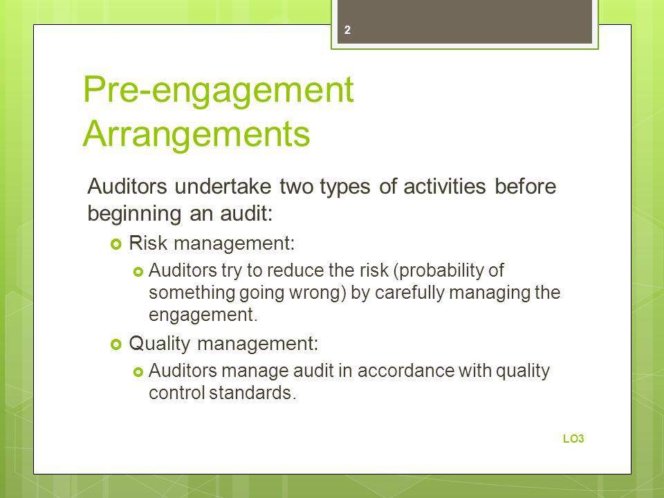 Pre-engagement Arrangements