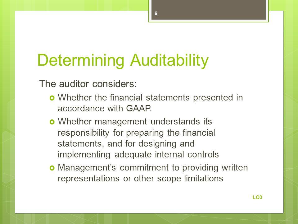 Determining Auditability