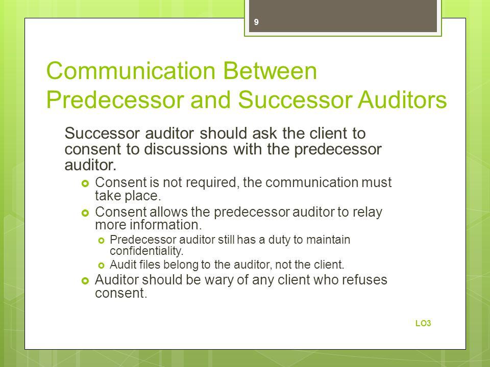 Communication Between Predecessor and Successor Auditors