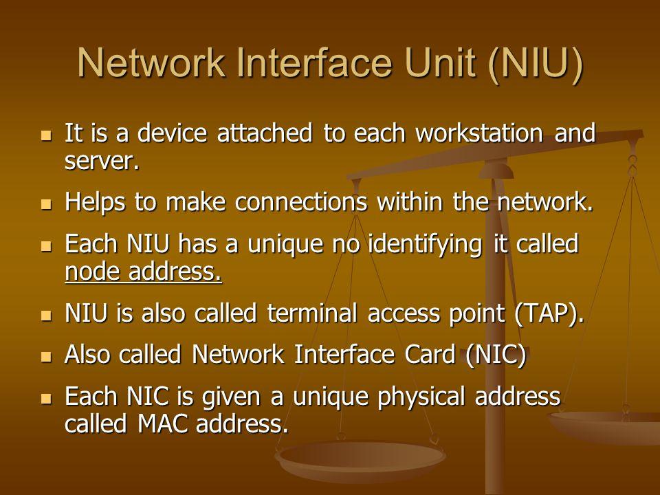 Network Interface Unit (NIU)