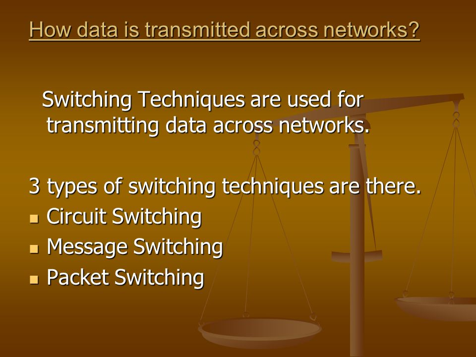 How data is transmitted across networks
