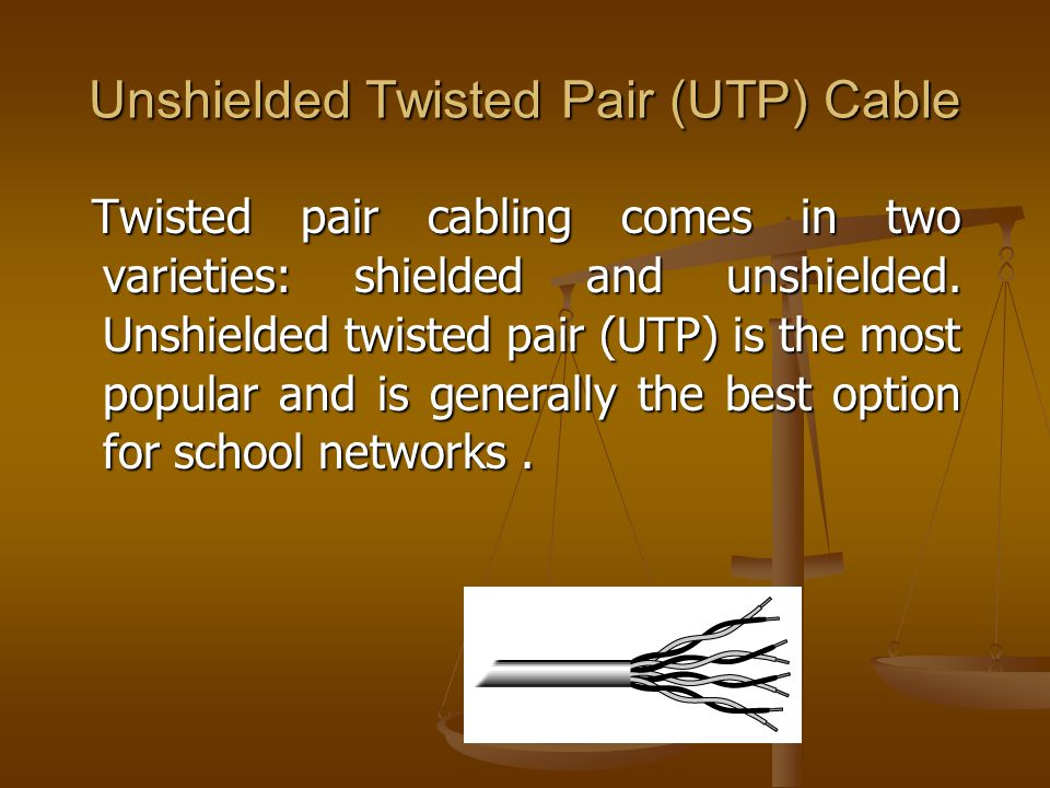 Unshielded Twisted Pair (UTP) Cable