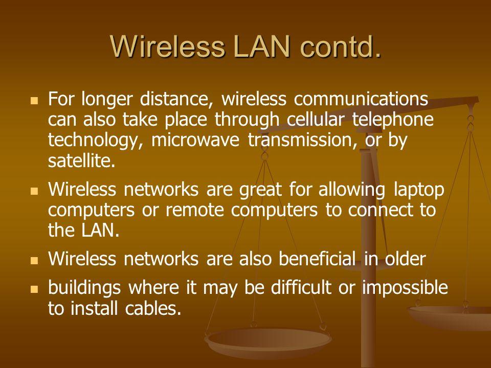 Wireless LAN contd.