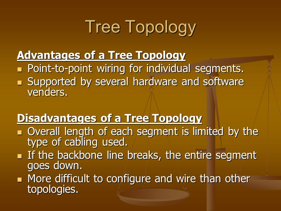 Tree Topology Advantages of a Tree Topology