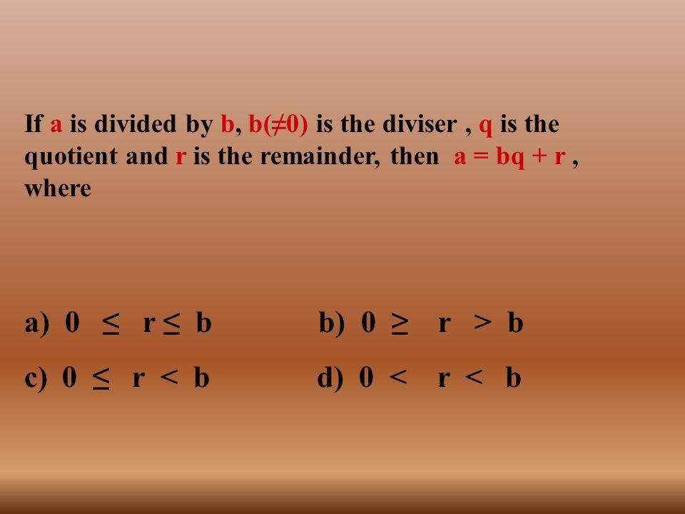 a) 0 ≤ r ≤ b b) 0 ≥ r > b 0 ≤ r < b d) 0 < r < b c)