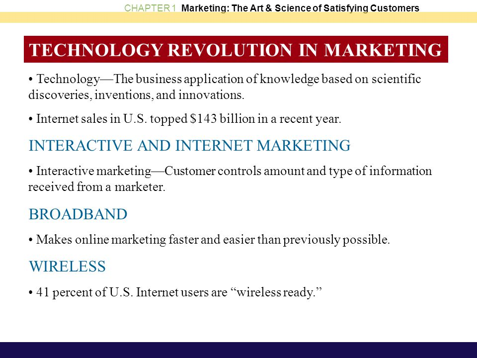 TECHNOLOGY REVOLUTION IN MARKETING