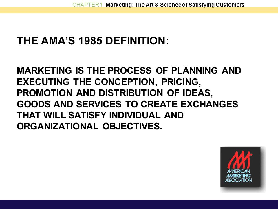THE AMA'S 1985 DEFINITION: