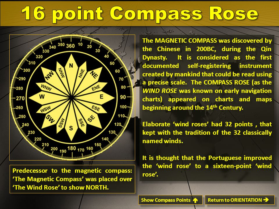 16 point Compass Rose