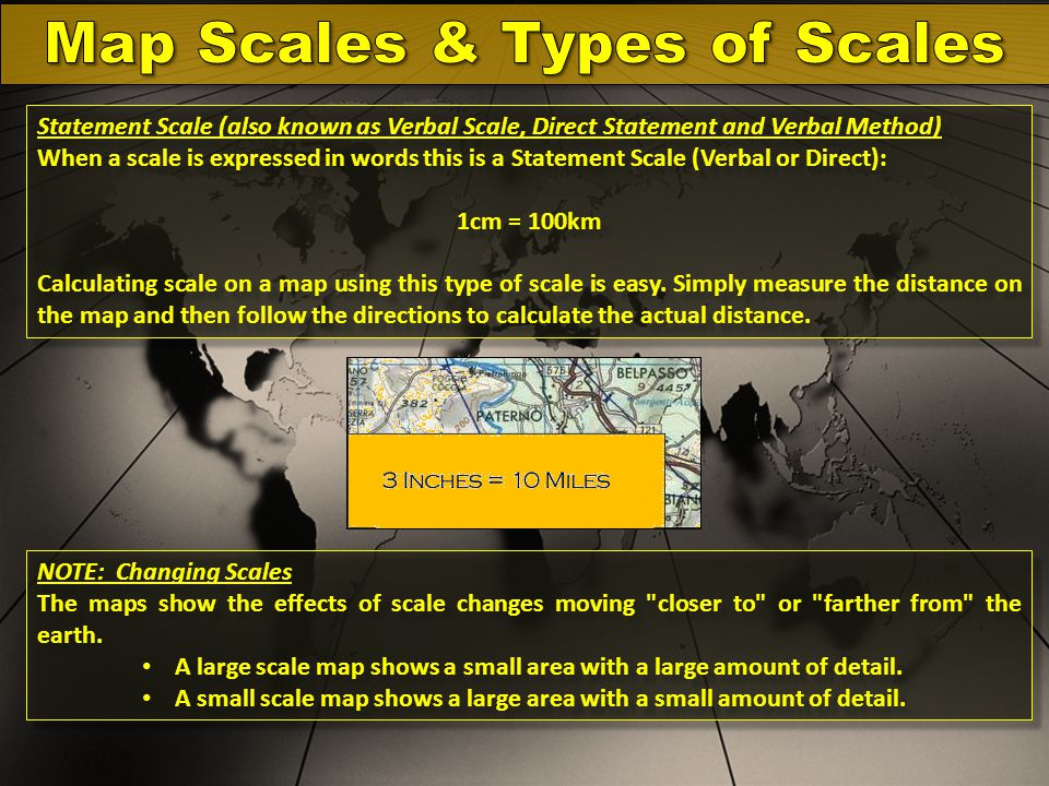Map Scales & Types of Scales