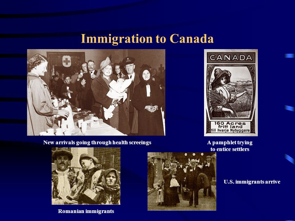 Immigration to Canada New arrivals going through health screeings