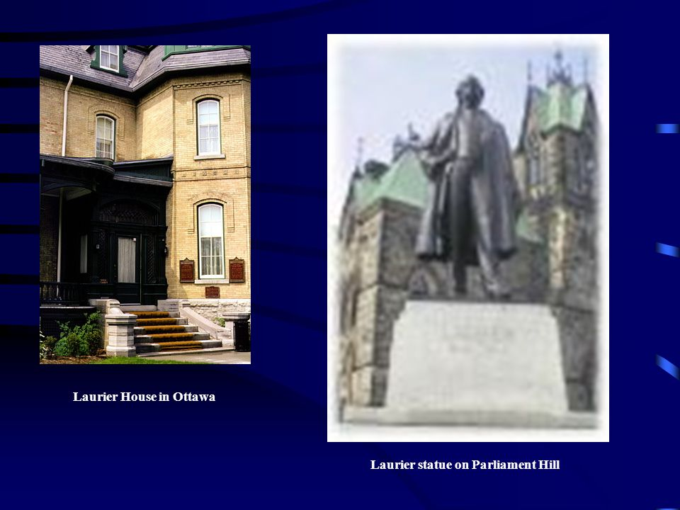 Laurier House in Ottawa Laurier statue on Parliament Hill