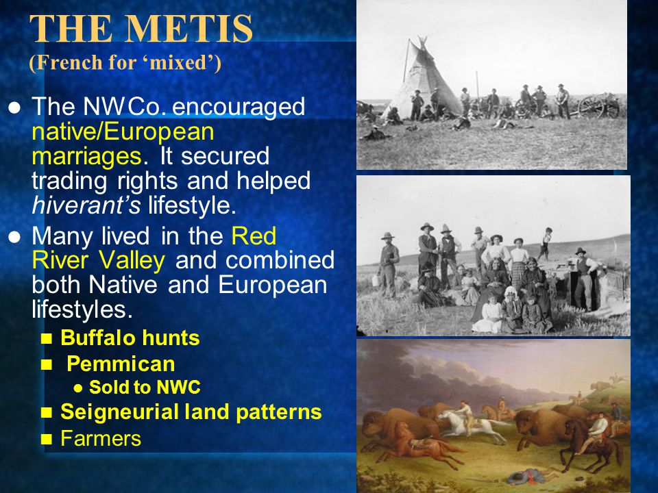 THE METIS (French for 'mixed')