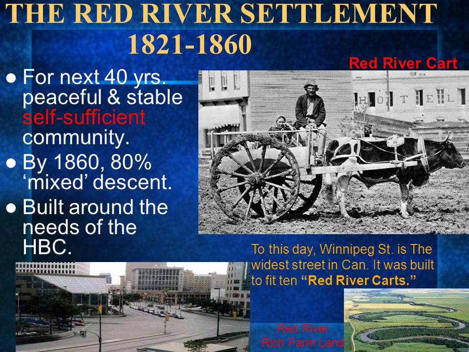 THE RED RIVER SETTLEMENT 1821-1860