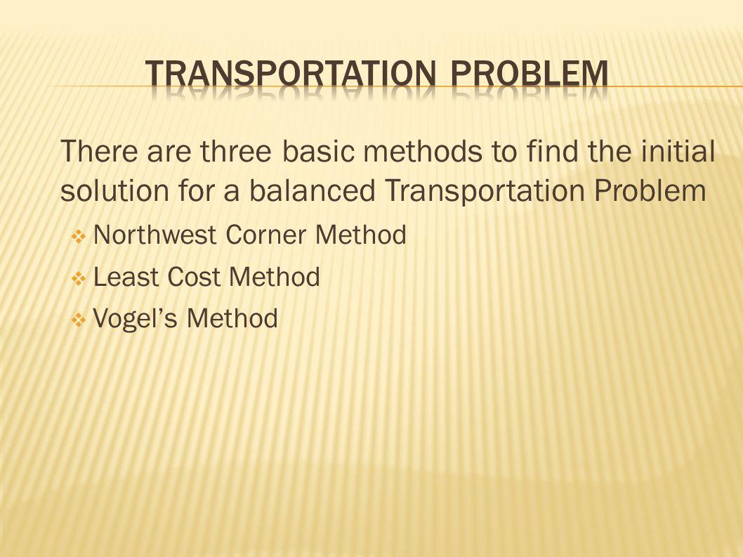 Transportation Problem