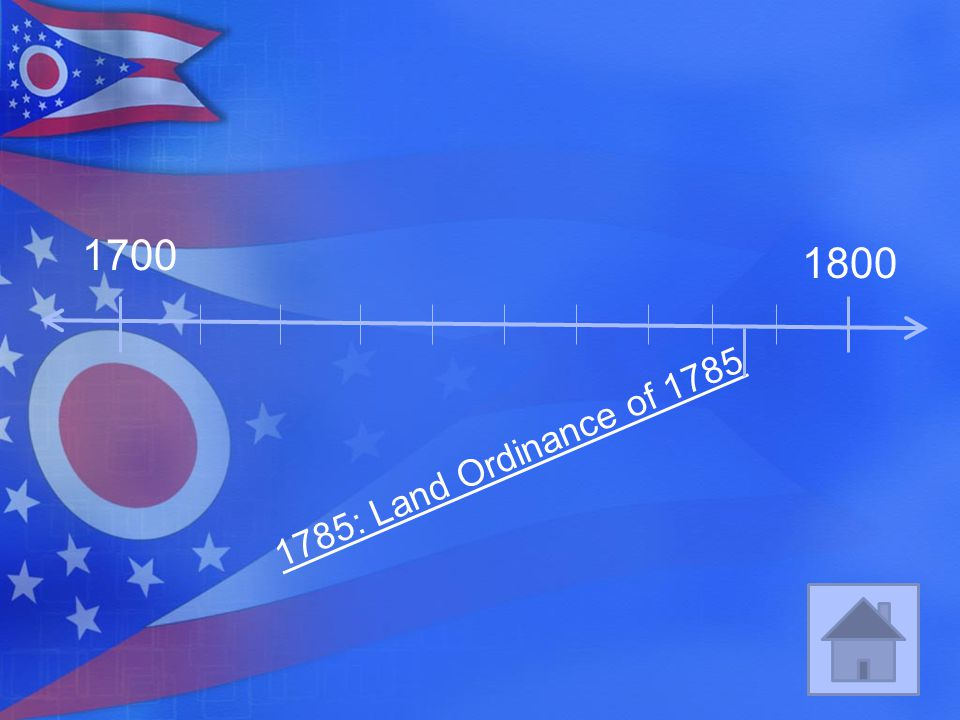 1700 1800 1785: Land Ordinance of 1785