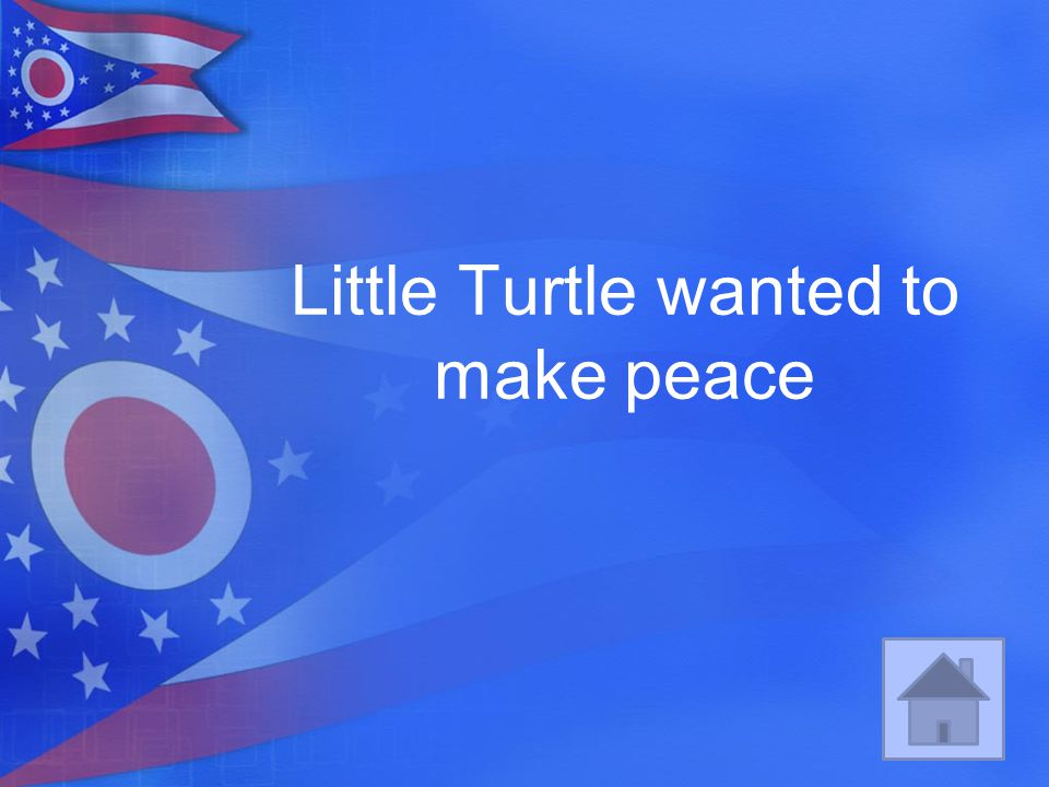 Little Turtle wanted to make peace