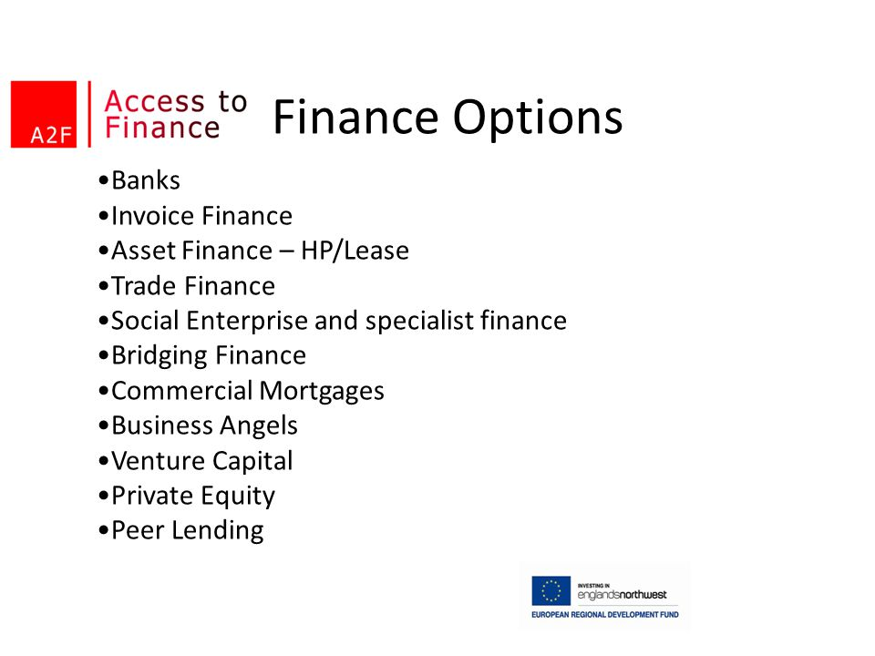 Finance Options Banks Invoice Finance Asset Finance – HP/Lease