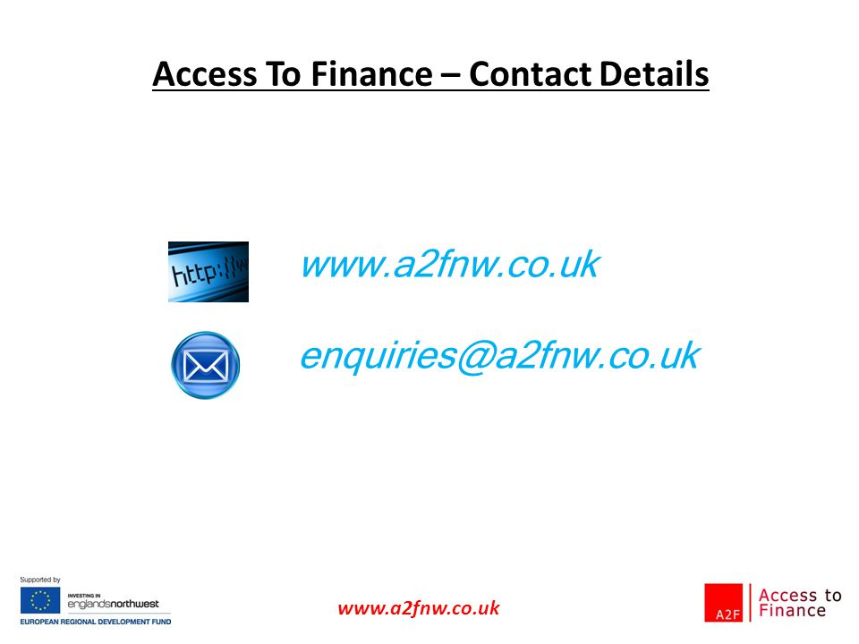 Access To Finance – Contact Details