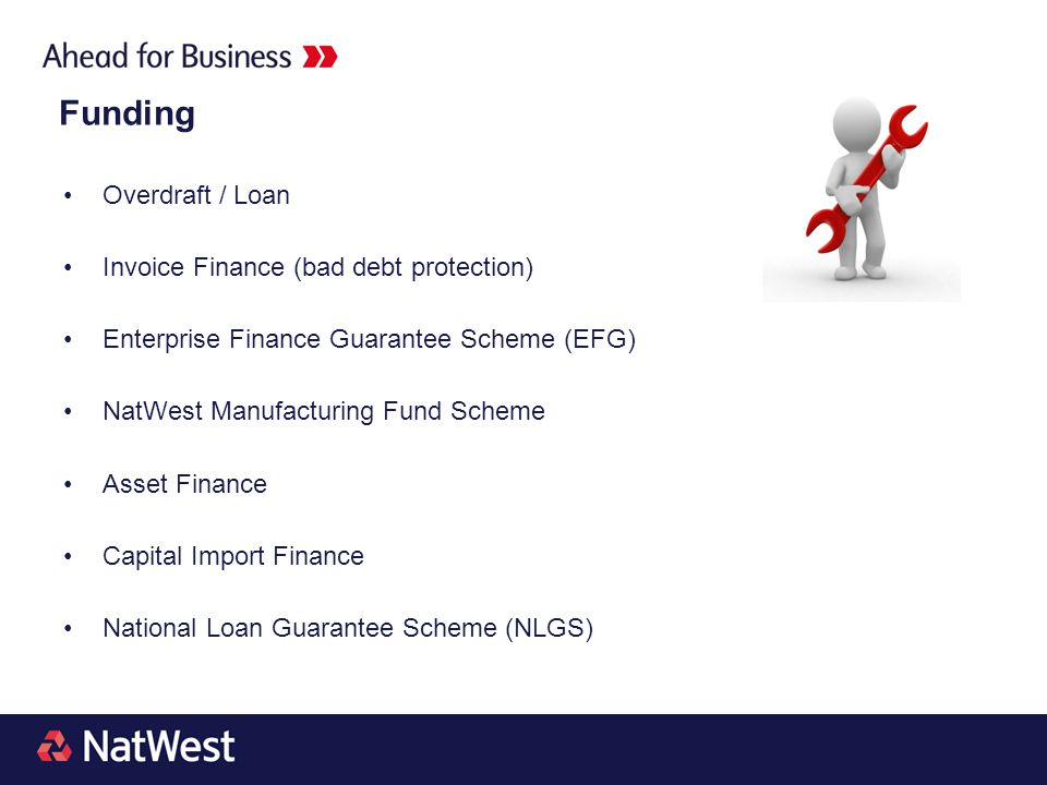 Funding Overdraft / Loan Invoice Finance (bad debt protection)