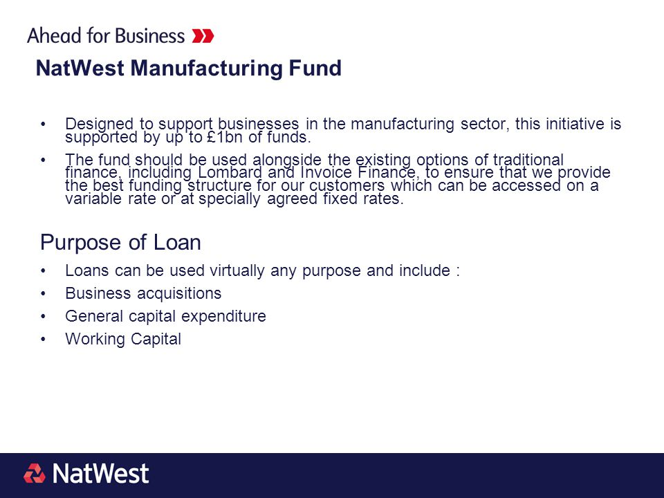 NatWest Manufacturing Fund