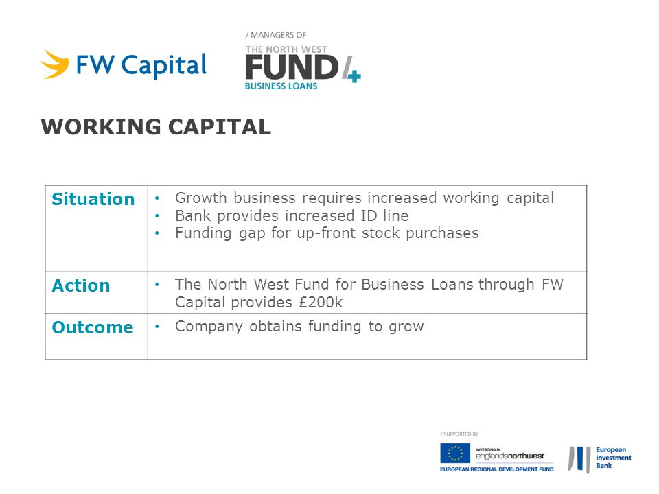 Working capital Situation Action Outcome