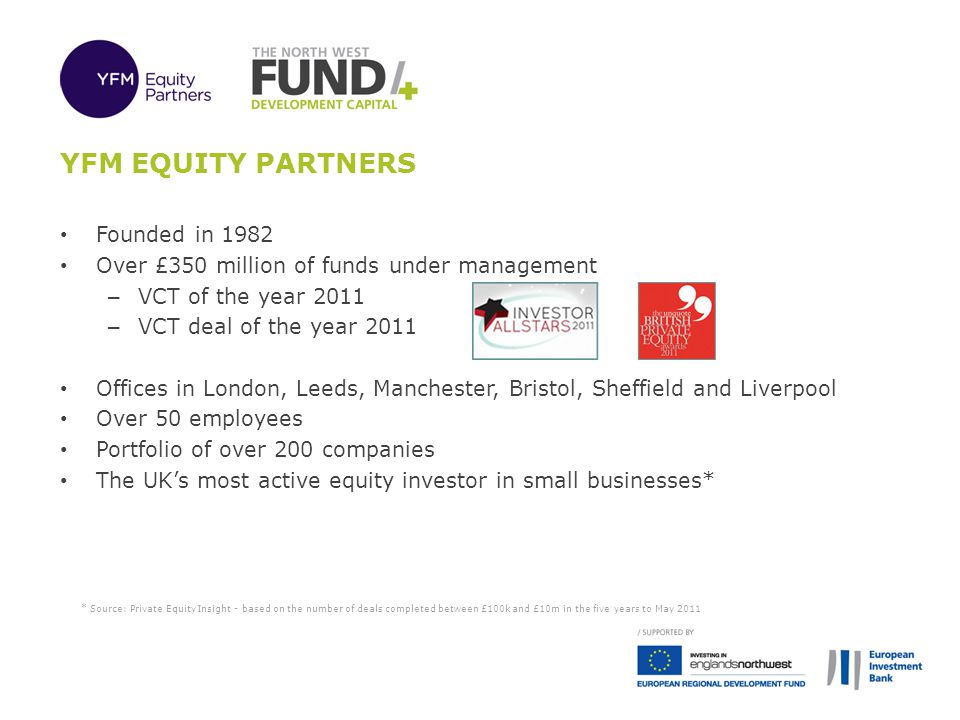 YFM Equity Partners Founded in 1982