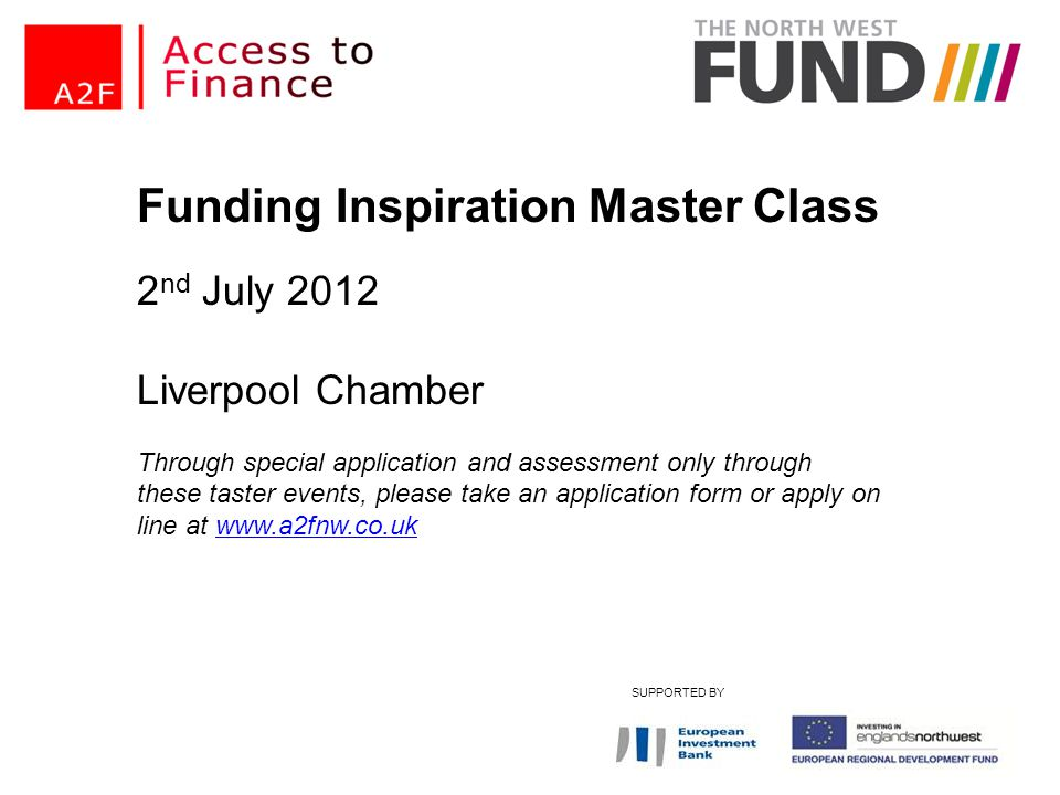 Funding Inspiration Master Class
