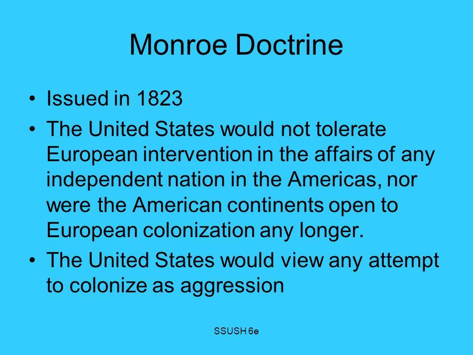 Monroe Doctrine Issued in 1823