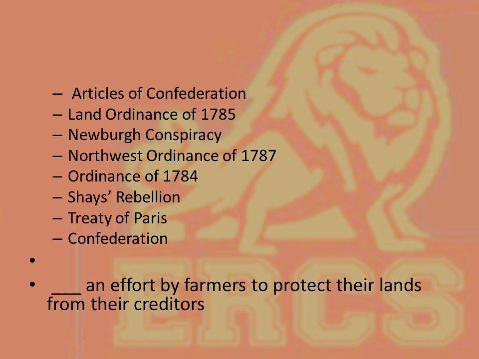 ___ an effort by farmers to protect their lands from their creditors