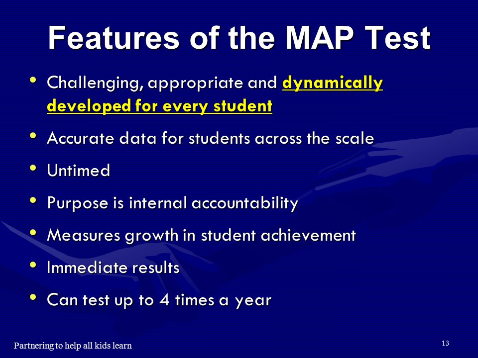 Features of the MAP Test