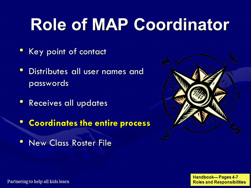 Role of MAP Coordinator