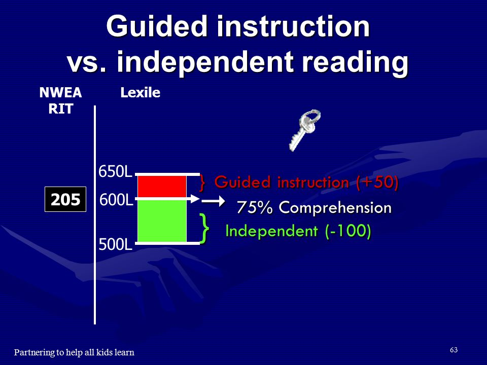 Guided instruction vs. independent reading