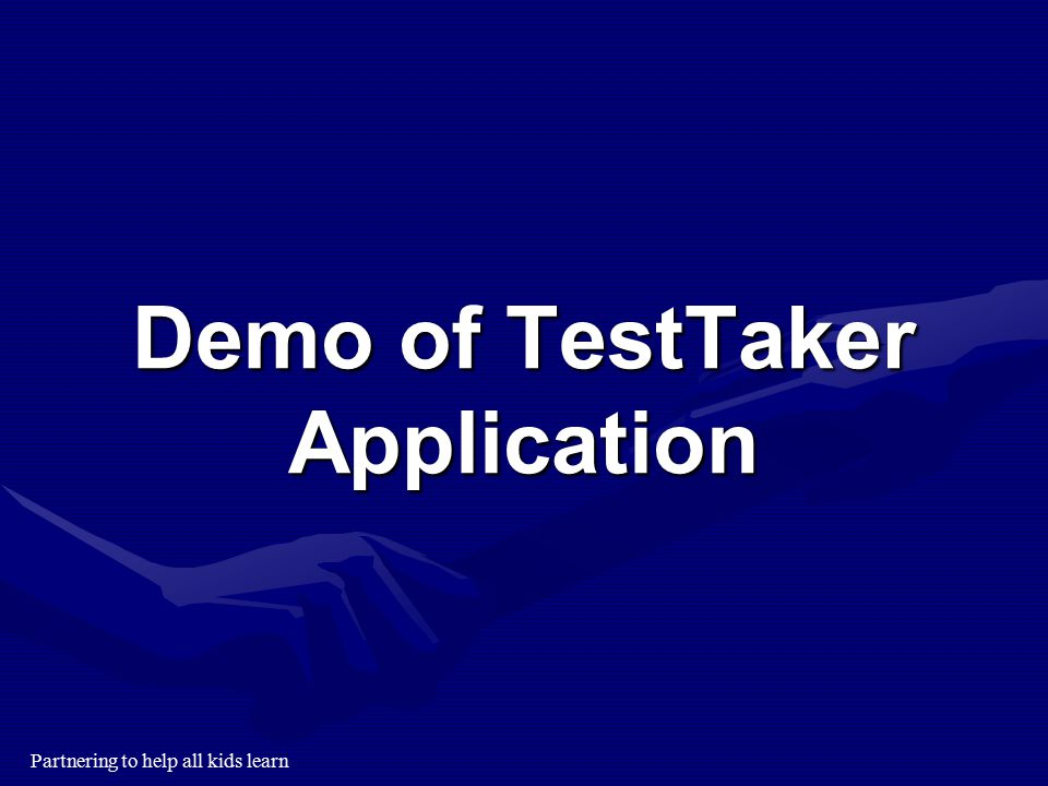 Demo of TestTaker Application