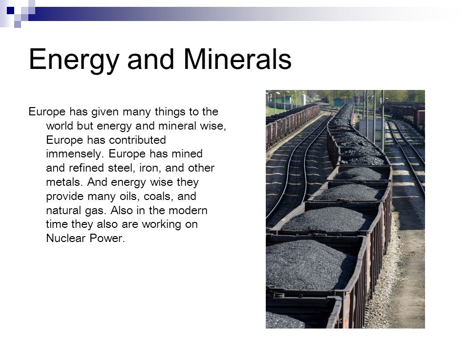 Energy and Minerals