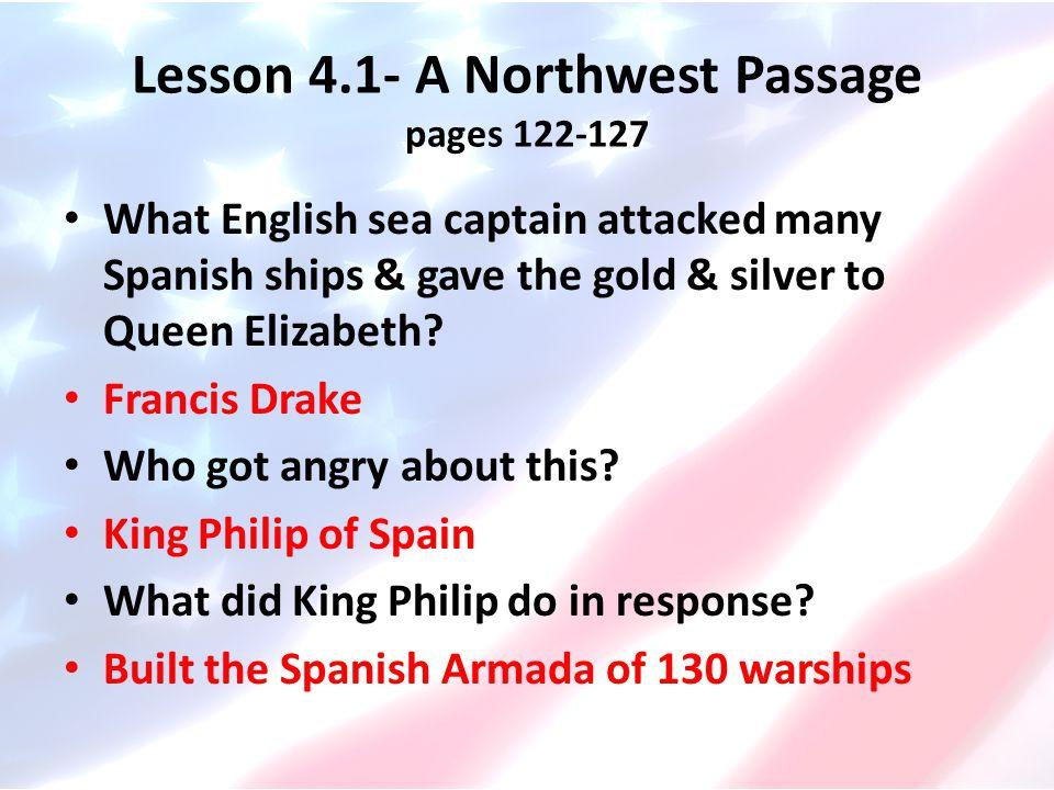 Lesson 4.1- A Northwest Passage pages 122-127