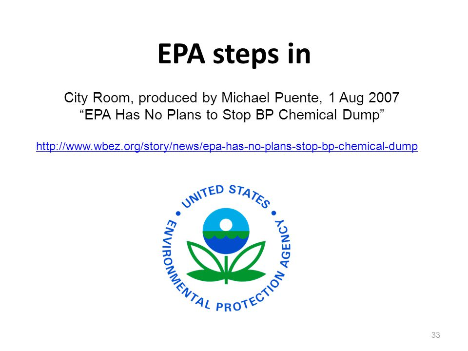 EPA steps in City Room, produced by Michael Puente, 1 Aug 2007
