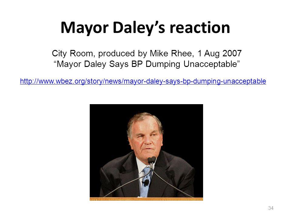 Mayor Daley's reaction