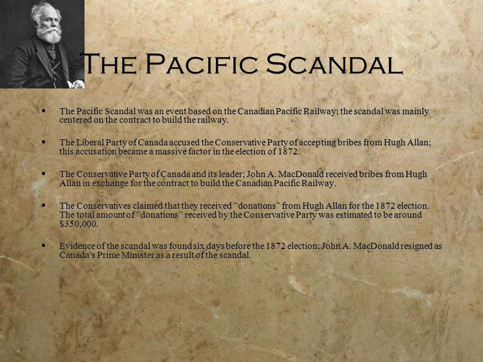 The Pacific Scandal