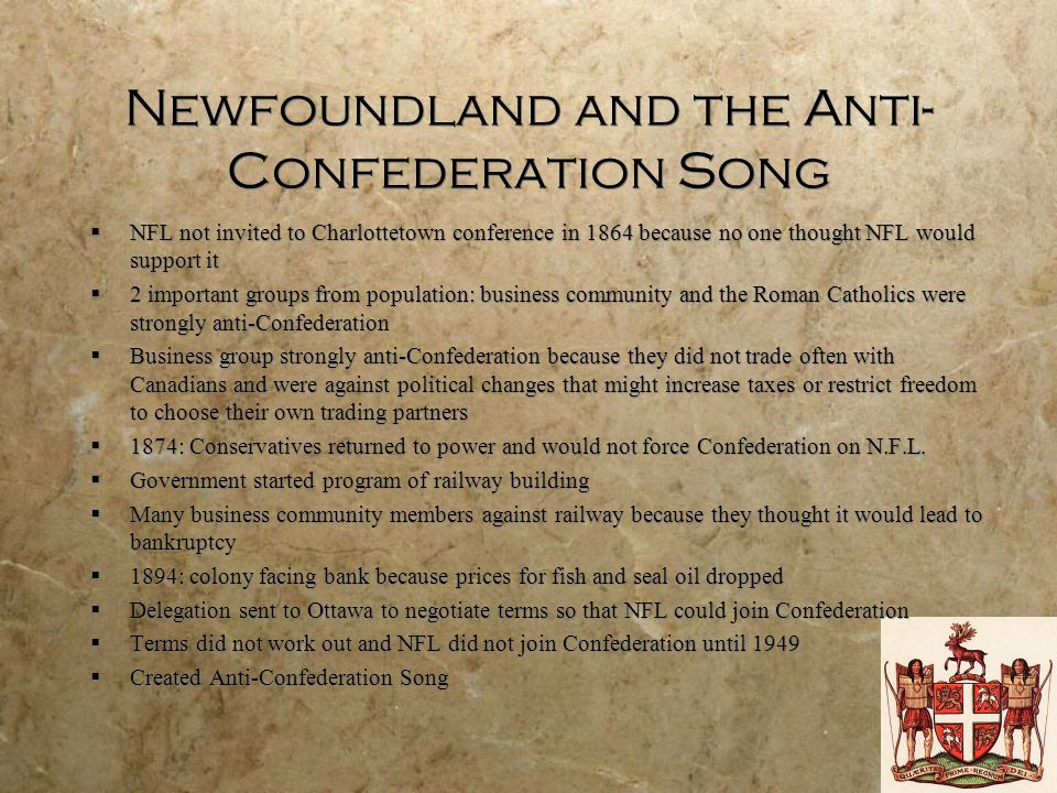 Newfoundland and the Anti-Confederation Song