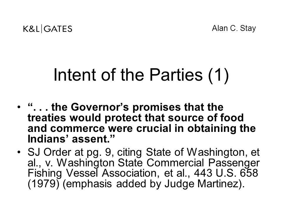 Intent of the Parties (1)