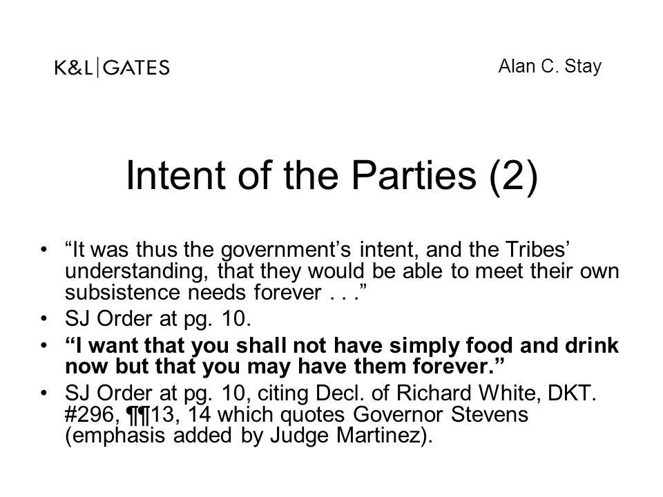 Intent of the Parties (2)