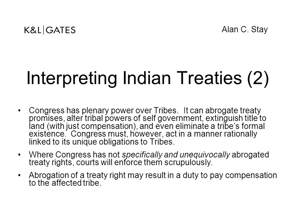 Interpreting Indian Treaties (2)