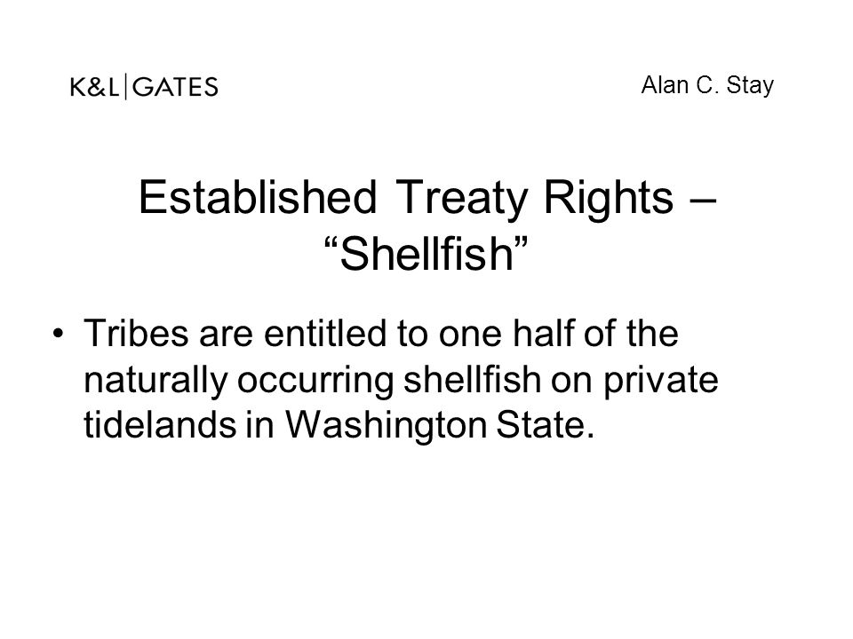 Established Treaty Rights – Shellfish