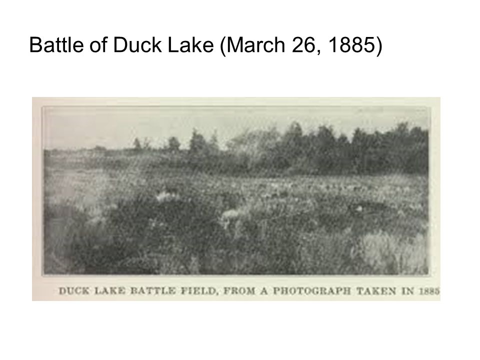 Battle of Duck Lake (March 26, 1885)